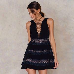 For Love And Lemons Lola Rose Mini Dress XS